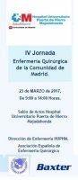 IV Jornada de Enfermería Quirúrgica de la Comunidad de Madrid