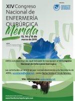 AEEQ convoca 4 becas de inscripción para asistir al 14º Congreso Nacional de Enfermería Quirúrgica  (Mérida, 13, 14 y 15 de marzo de 2019)