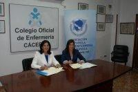 Amparo Rubio, Presidenta de AEEQ firma un acuerdo de colaboración científica con el Colegio de Enfermería de Cáceres
