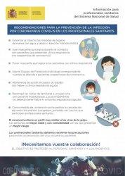 INFOGRAFÍA recomendaciones sanitarias COVID-19