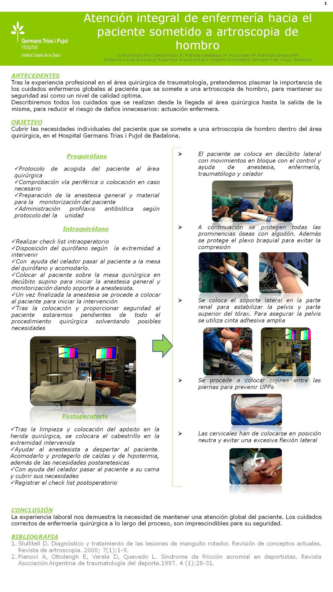 Resúmenes de Posters | XII Congreso Nacional de Enfermería Quirúrgica
