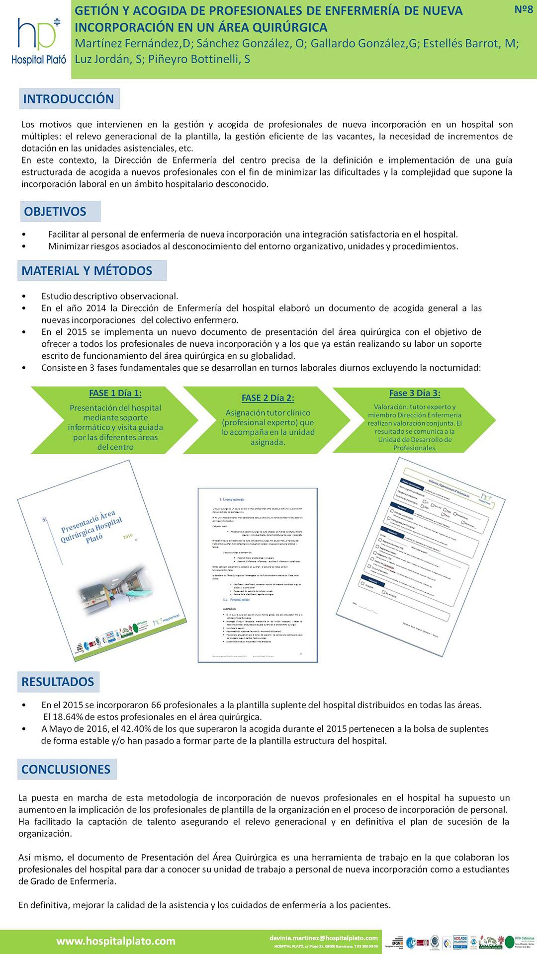 Resúmenes de Posters   XII Congreso Nacional de Enfermería Quirúrgica