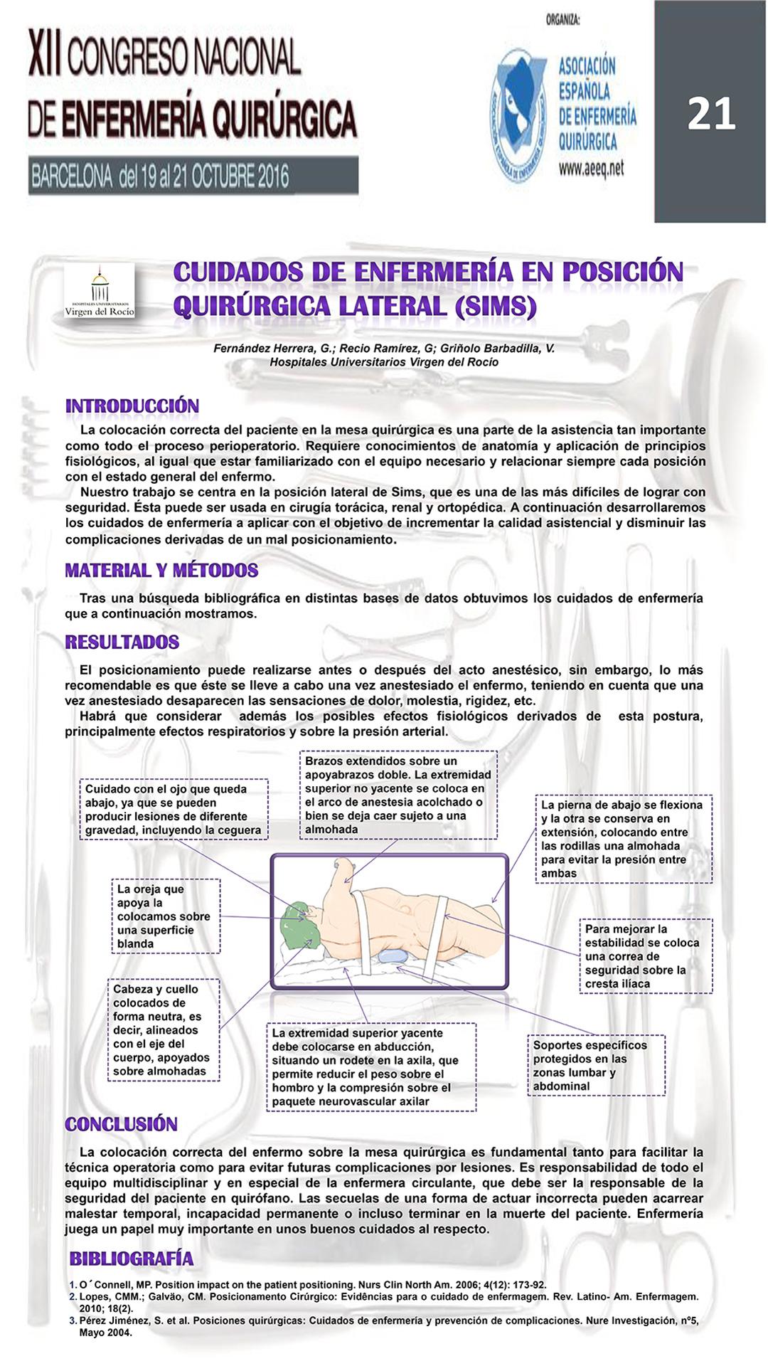 Resmenes De Posters Xii Congreso Nacional Enfermera Quirrgica Evidencias 85068 Tipos Circuitos Electricos Descargar Resumen Pster Digital