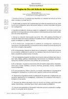 12 Reglas de Oro del Artículo de Investigación