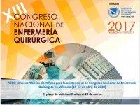 AEEQ convoca 4 becas científicas para la asistencia al 13 Congreso Nacional de Enfermaría Quirúrgica en Valencia (11-13 de abril de 2018)