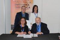 Ángela Escribano, Presidenta de AEEQ firma un convenio con la Fundación INDEX, con ventajas formativas y científicas para los socios